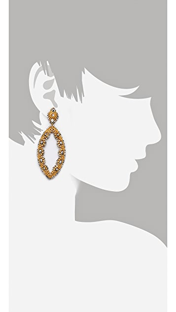 Miguel Ases Pyrite Quartz Earrings
