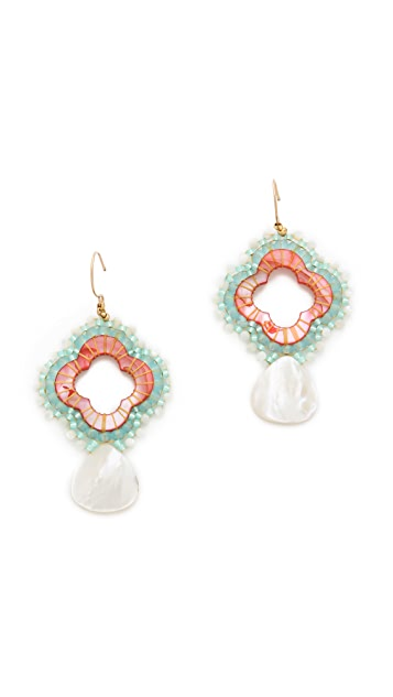Miguel Ases Beaded Earrings