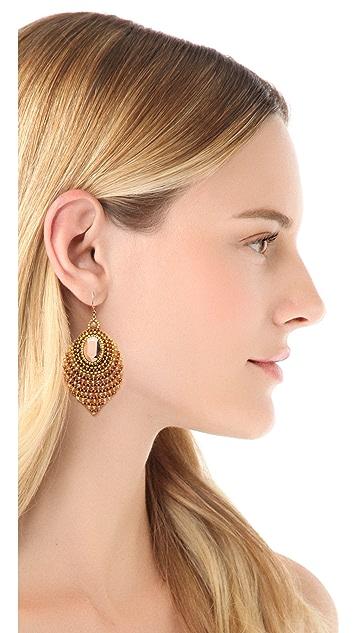 Miguel Ases Center Gemstone Earrings