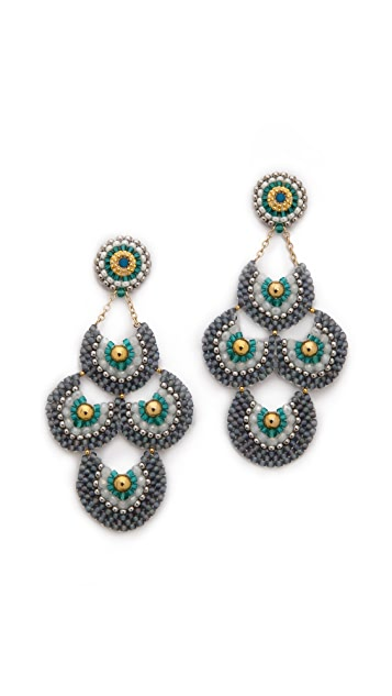 Miguel Ases Hydro Beaded Earrings