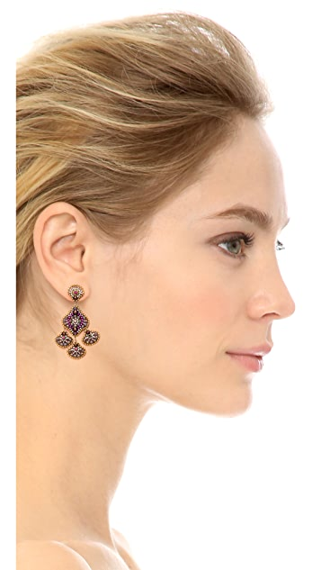 Miguel Ases Scallop Drops Earrings