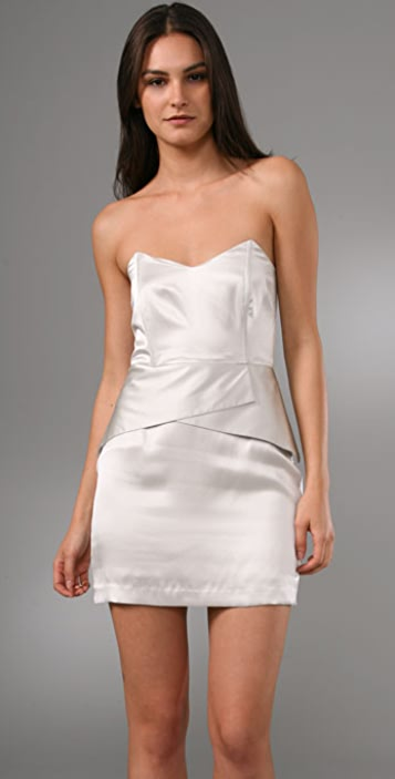 Michelle Mason Strapless Dress