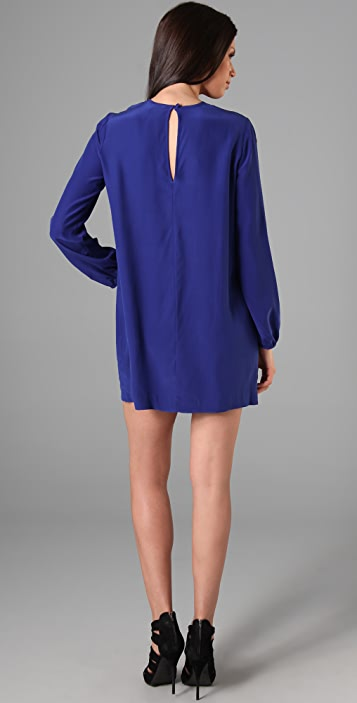 Michelle Mason Long Sleeve Mini Dress