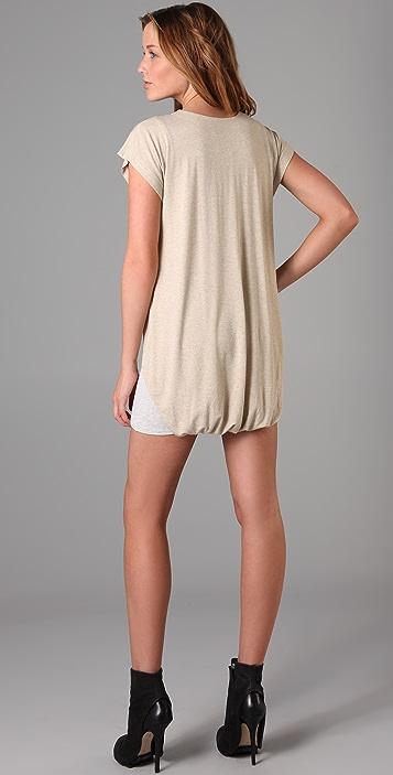Michelle Mason Short Sleeve Double Layer Dress