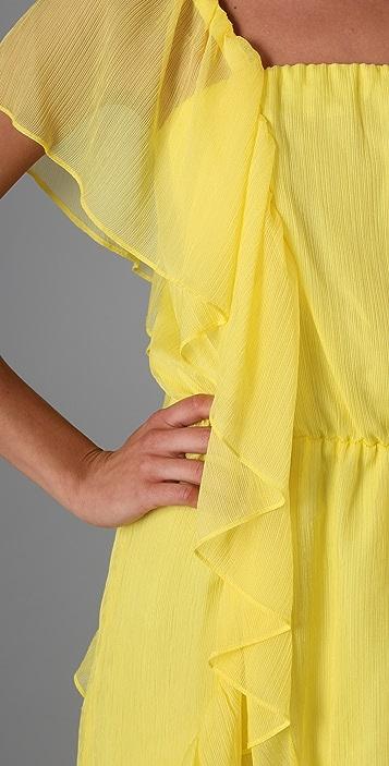 Michelle Mason Asymmetrical Ruffle Dress