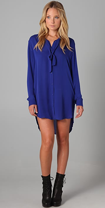 Michelle Mason Long Shirtdress