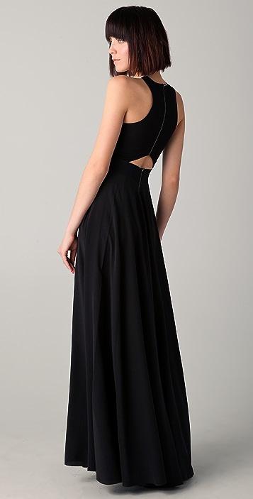 Michelle Mason Leather Bodice Gown