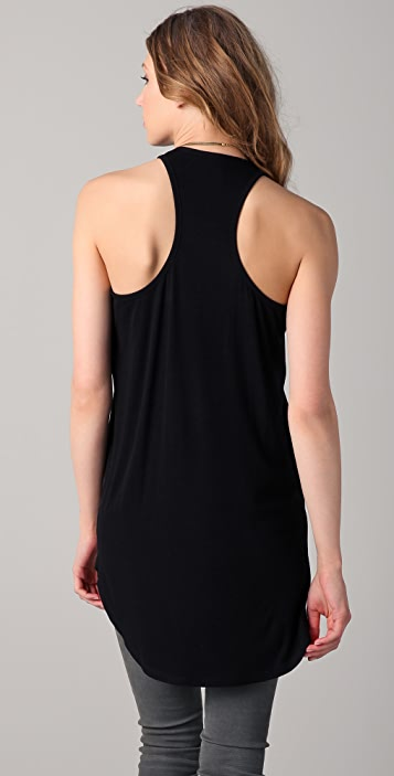 Michelle Mason Leather Racer Back Tunic