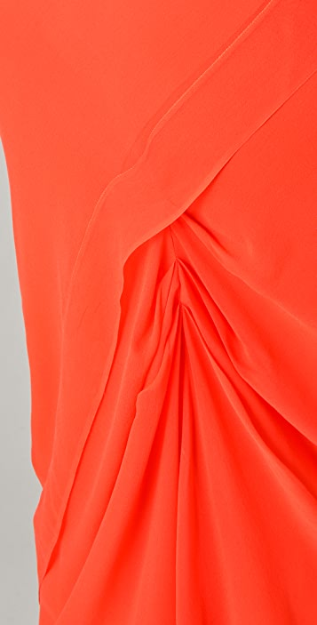 Michelle Mason Colorblock Tank Maxi Dress