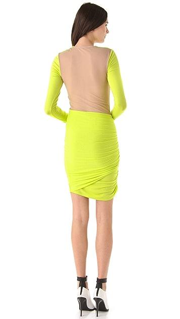 Michelle Mason Sheer Back Dress