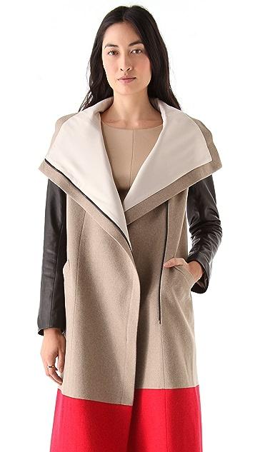Michelle Mason Dual Tone Coat