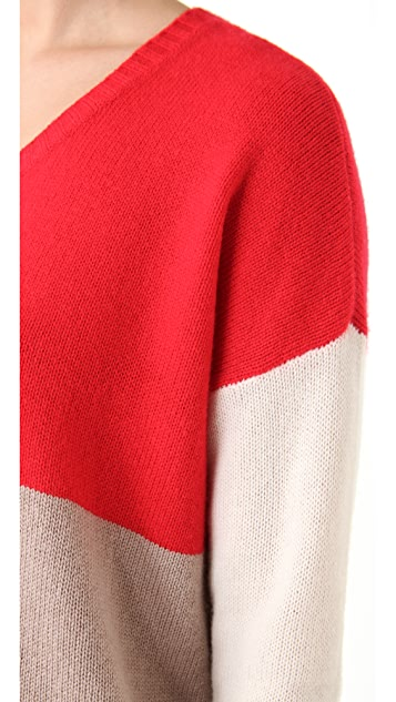 Michelle Mason Tri-Color Sweater