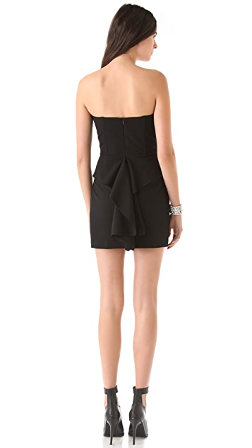 Michelle Mason Cascade Strapless Dress