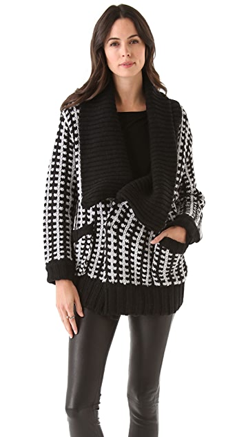 Michelle Mason Car Coat Cardigan
