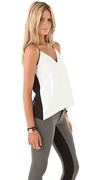 Michelle Mason Leather Front Camisole