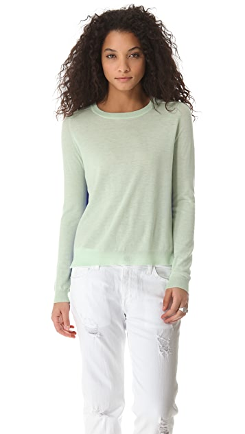 Michelle Mason Two Tone Cashmere Silk Sweater