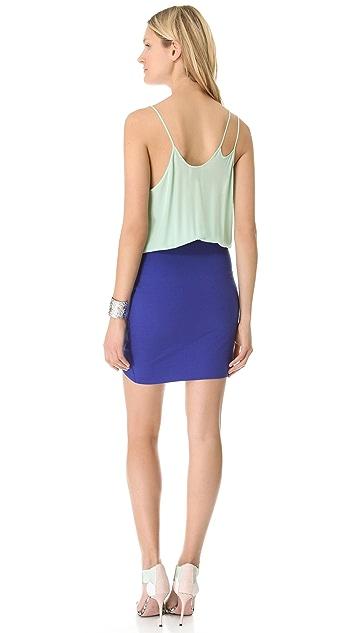 Michelle Mason Colorblock Strap Dress
