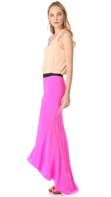 Michelle Mason Racer Back Maxi Gown