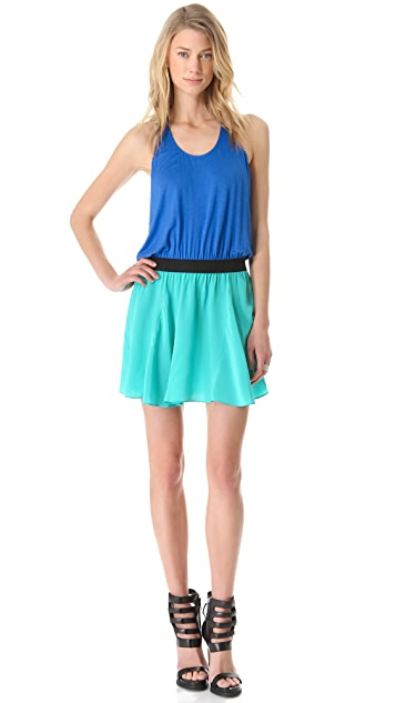 Michelle Mason Colorblock Tank Dress