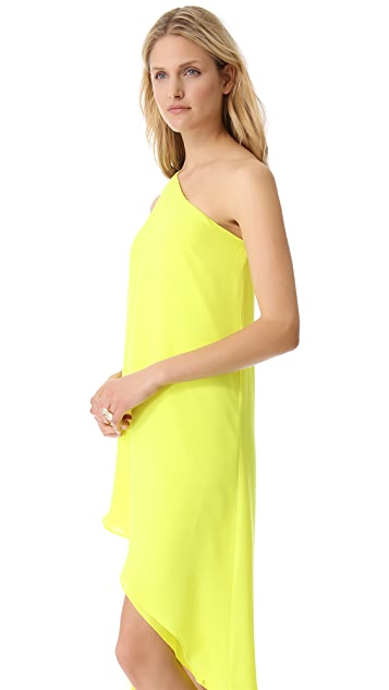 Michelle Mason Asymmetrical Shift Dress
