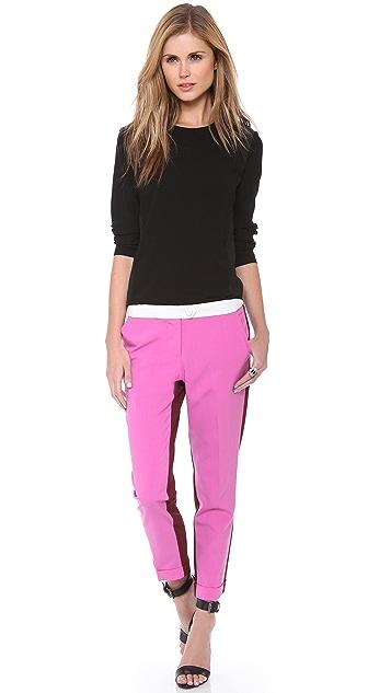 Michelle Mason Contrast Slim Trousers