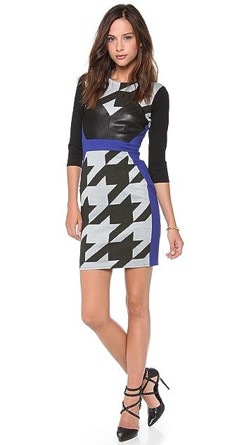 Michelle Mason Combo Long Sleeve Dress