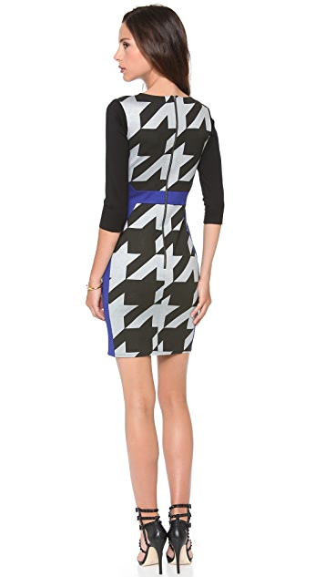 Michelle Mason Combo Long Sleeve Dress