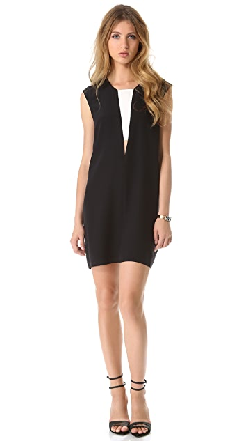 Michelle Mason Contrast Shift Dress