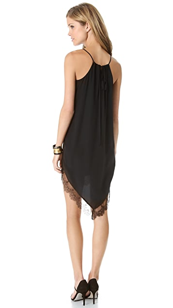 Michelle Mason Cami Dress with Lace Trim