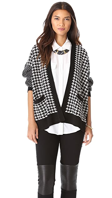 Michelle Mason Houndstooth Cardigan