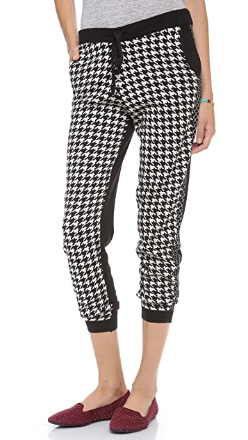 Michelle Mason Houndstooth Sweatpants