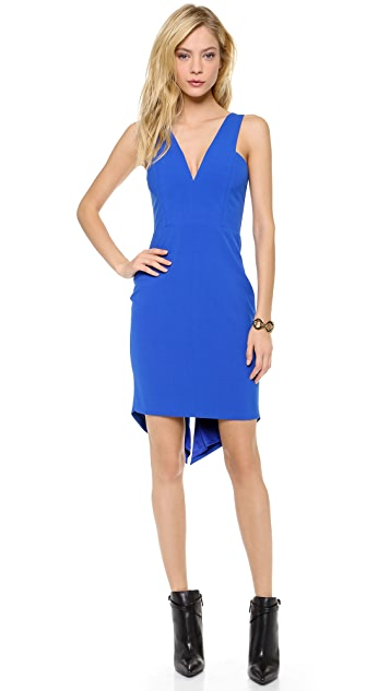 Michelle Mason V Neck Dress
