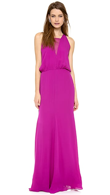 Michelle Mason Chiffon Inset Gown