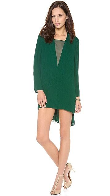 Michelle Mason Chiffon Inset Shift Dress