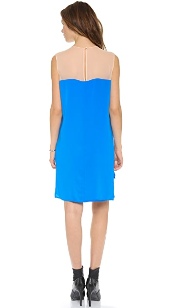 Michelle Mason Two Tone Shift Dress