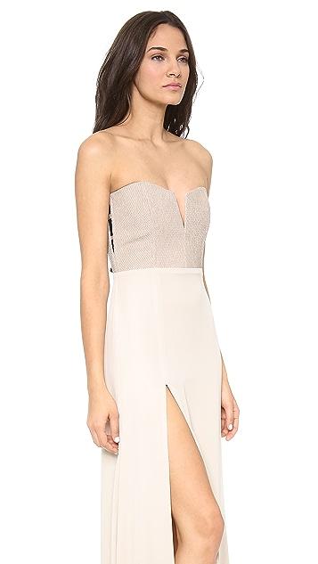 Michelle Mason Leather Corset Gown