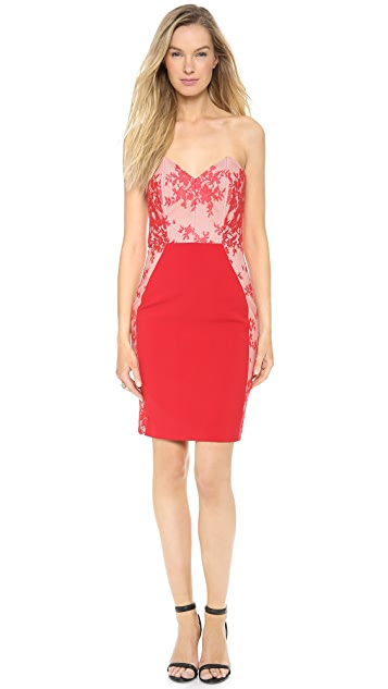 Michelle Mason Corset Lace Dress