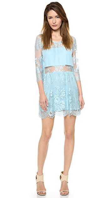 Michelle Mason Mini Lace Dress