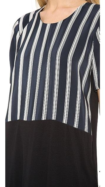 Michelle Mason Silk Front Tee Dress