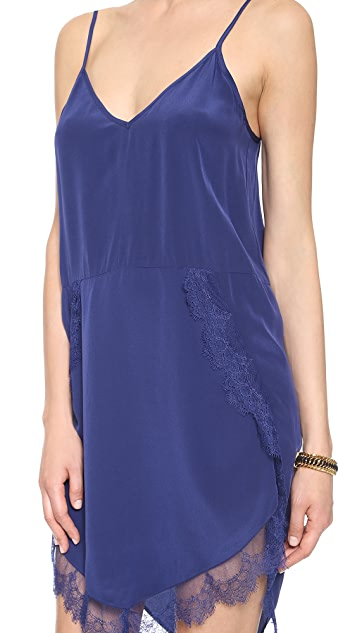 Michelle Mason Lace Trim Slip Dress