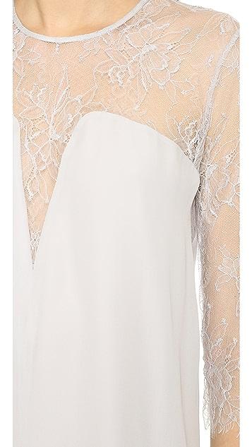 Michelle Mason Lace Shift Dress