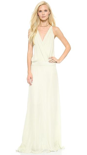 Michelle Mason Cami Wrap Gown