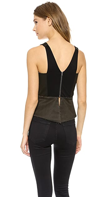 Michelle Mason Plunge Neck Metallic Tank