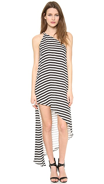 Michelle Mason Asymmetrical Maxi Dress