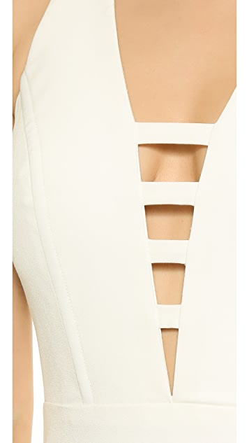 Michelle Mason Bar Strap Gown