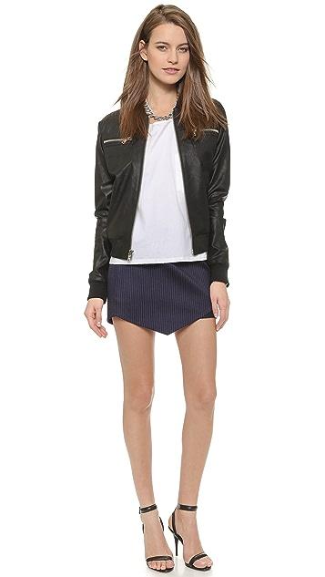 Michelle Mason Cutout Miniskirt