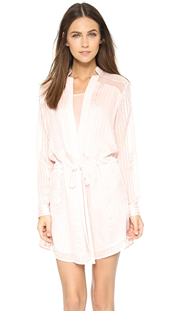 Michelle Mason Shirtdress with Sheer Insets