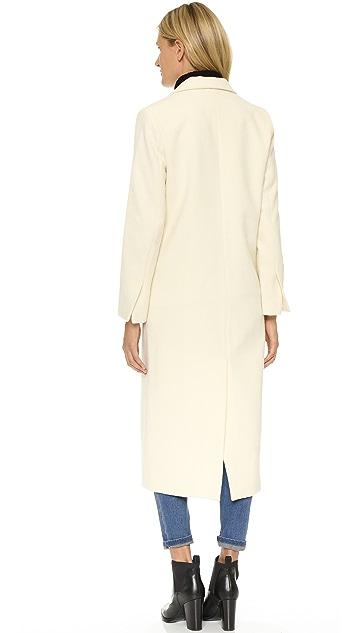 Michelle Mason Single Breasted Maxi Coat