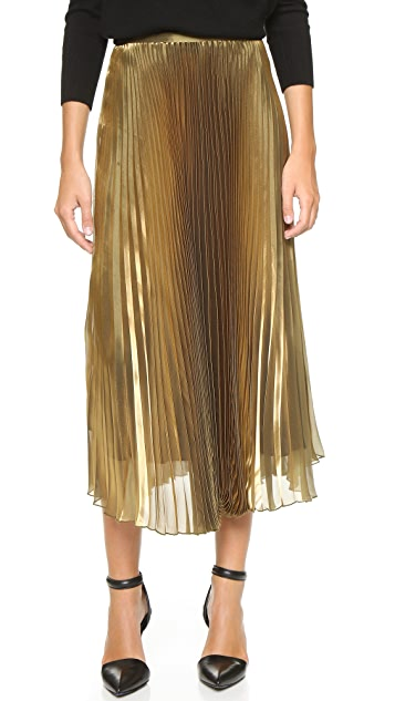 0aa3ccd08 Michelle Mason Pleated Iridescent Skirt | SHOPBOP