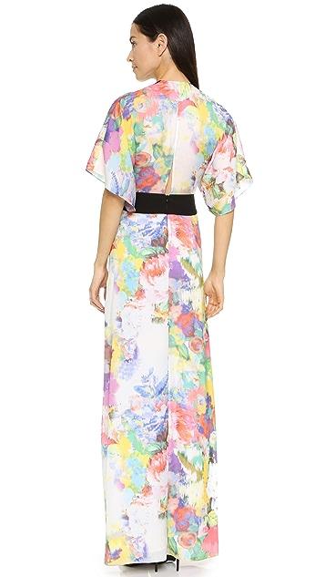 Michelle Mason Obi Belt Gown